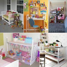10 Brilliant Ways to Repurpose Old Cribs - http://www.amazinginteriordesign.com/10-brilliant-ways-repurpose-old-cribs/