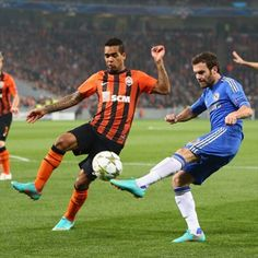 Alex Teixeira, Shakhtar & Juan Mata, Chelsea.   Shakhtar 2-1 Chelsea. 23.10.12.