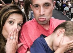 "Pin for Later: Sarah Michelle Gellar and Freddie Prinze Jr.'s Sweetest Family Snaps  In July 2016, she joked, ""This is what it looks like when we try to get our soon to take a picture. #nopicturesplease"""