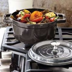 staub cocotte in fumee - so happy i got a few of these pieces before the color was sold out