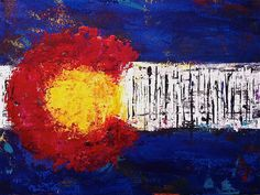 What a cool painting of the Colorado Flag!