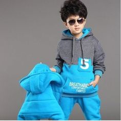 43.00$  Watch now - http://ali4tw.shopchina.info/go.php?t=32707013451 - 2016 New school costume for  boy girl winter clothes suit kids Sports warm Plus thick velvet three-piece brand child suits 43.00$ #buyininternet