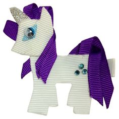 MY LITTLE PONY Rarity Character Sculpture Hair Bow Clip ~ Only $5 https://www.etsy.com/listing/228295349/new-my-little-pony-character-sculpture?ref=shop_home_active_1