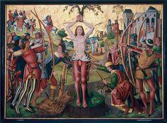 Sebastian-Altar, ca. 1493/4, by Meister der Heiligen Sippe der Jüngere (ca. 1480-1515/8)