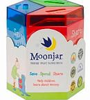 Classic Moonjar Money-box. Just like all classics, this durable tin Moonjar Money-box is timeless and inspires spending, saving and sharing for a lifetime!  ​​The Classic comes with a family guide, passbook to track transactions and three money-boxes. Each money-box is fitted with a colour-coordinated acrylic lid. No assembly is required.  Moonjar is 135mm high and 130mm wide. http://www.moonjar.com.au/