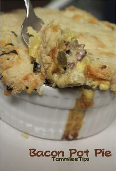 Bacon Pot Pie..Heaven has arrived...with onion celery potatoes green onions cheddar sour cream and ready made pie crust
