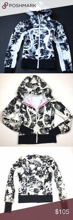 Lululemon Floral Scuba Hoodie Great condition. Very cute design. Soft lining inside. lululemon athletica Jackets & Coats