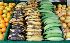 """Plantains - not low-carb, but they are paleo and have lots of vitamins. """"plantains are like bananas with the nutrient content ramped up to 11. They have more starch, more vitamins and minerals, more everything. They also compare favorably to sweet potatoes – equally good for you, but containing slightly different nutrients."""" See charts in article."""