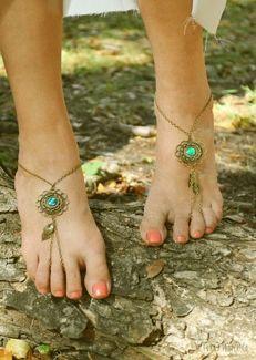 Pulseiras nos pés