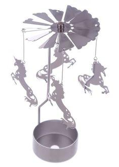 Unicorn Tea Light Powered Metal Spinning Decoration