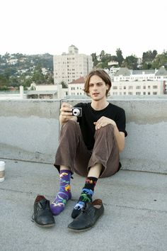 He never wears matching socks, and the one time he did he sprained his ankle. He thinks matching socks is bad luck:)
