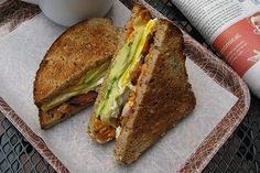 """Almost every sandwich at Mike & Patty's has its own cult, but none inspires more adulation than the bacon and egg, fancy. The titular ingredients mingle with cheddar, avocado, red onion, and a smoky, spicy housemade mayonnaise inside toasted multigrain bread. Serious Eats' Carey Jones, calls it """"nearly flawless"""" and A Passion For Food,deems it """"nothing short of incredible."""" $6     See the MenuPages Listing"""