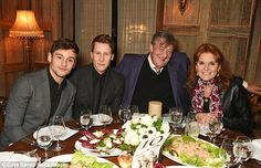 Sarah Ferguson, pictured with Tom Daley, Dustin Lance Black, and Stephen Fry  attended a d...