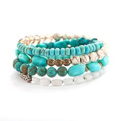 wire wrap bracelet with natural turquoise