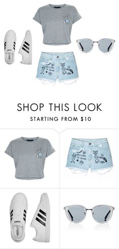 """spacey days"" by leeshy17 on Polyvore featuring New Look, Aloha From Deer, adidas and Oliver Peoples"