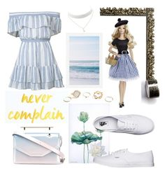 """""""Somewhere In the clouds"""" by muluna ❤ liked on Polyvore featuring LoveShackFancy, Pottery Barn, Droog, Vans, M2Malletier and GUESS"""