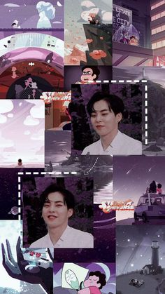 xiumin and steven universe. Chanyeol, Exo Kokobop, Exo 12, Kpop Exo, Exo Wallpaper Hd, City Wallpaper, Homescreen Wallpaper, Lock Screen Wallpaper, Aesthetic Backgrounds