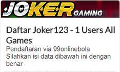 Tempat pendaftaran atau melakukan daftar judi slot joker123 Indonesia yang aman dan juga terpercaya , caranya sangatlah mudah untuk daftar dan main di Joker123