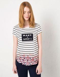 Bershka United Kingdom - BSK floral striped T-shirt