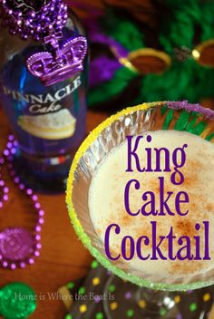 mardi gras   drinks   King Cake Cocktail for Mardi Gras   Holiday Food (& Drink)