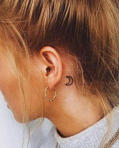 mini tattoos with meaning . mini tattoos for girls with meaning . mini tattoos behind ear Mini Tattoos, Dainty Tattoos, Subtle Tattoos, Cool Small Tattoos, Small Tattoo Designs, Tattoo Designs For Women, White Tattoos, Ankle Tattoos, Small Moon Tattoos