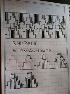 Rampart Zentangle pattern by TexasDoxieMama