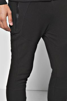 Skinny Fit Ribbed Joggers