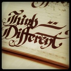 Think different #calligraphy #type #lettering