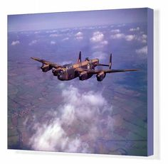 51x41cm ready to hang Box Canvas Print. Avro Lancaster B.I PP967 on a test flight from Castle Bromwich, March 1945. . Image supplied by Royal Air Force (RAF) Museum. Product ID:dmcs_10036622_8137_367 Fine Art Prints, Canvas Prints, Framed Prints, Lancaster Bomber, Royal Air Force, National Museum, Gifts In A Mug, Art Reproductions, Poster Size Prints