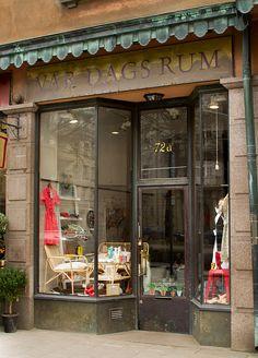 Stockholm shop, love the name. Antique Shops, Vintage Shops, Stockholm, Boutiques, Bar, Shop Facade, Lovely Shop, Shop Fronts, Shop Around