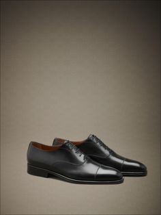 Lace-ups with calfskin toe and leather sole. #fw14 #man #accessories