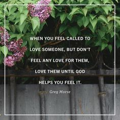 """""""Amazingly God often provides the affections we need in moments when we act before we feel. Ive experienced the reality that Lewis wonderfully describes in the following sentence: 'As soon as we do this we find one of the great secrets. When you are behaving as if you loved someone you will presently come to love him. If you injure someone you dislike you will find yourself disliking them more.' Its true that your actions often flow from your affections but it is also true that your…"""