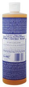 Castile Liquid Soap Organic-Peppermint 16 Ounces by Bronner's Magic Soaps. $9.49. Serving Size:. 16 Ounces Liquid. FOR REPLACMENT PLEASE LOOK TO DR. WOODS PRODUCTS Our most popular fragrance. The peppermint essential oil tingles the body and clears the mind. Because therapeutically peppermint oil is a mild stimulant it increases vitality and clarity. All oils and essential oils are certified organic to the National Organic Standards Program. Packaged in 100% post-consumer r...