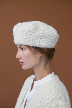 The Rare Creature The Chloe Beret Knitting Pattern & Yarn Set Knitting Kits, Hand Knitting, Knitting Patterns, Silhouette Art, Haute Hippie, Alpaca Wool, Beret, Knitted Hats, Chloe