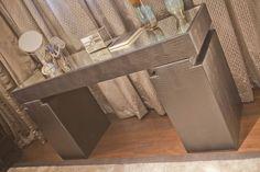 Leather console   SISSY FEIDA INTERIORS