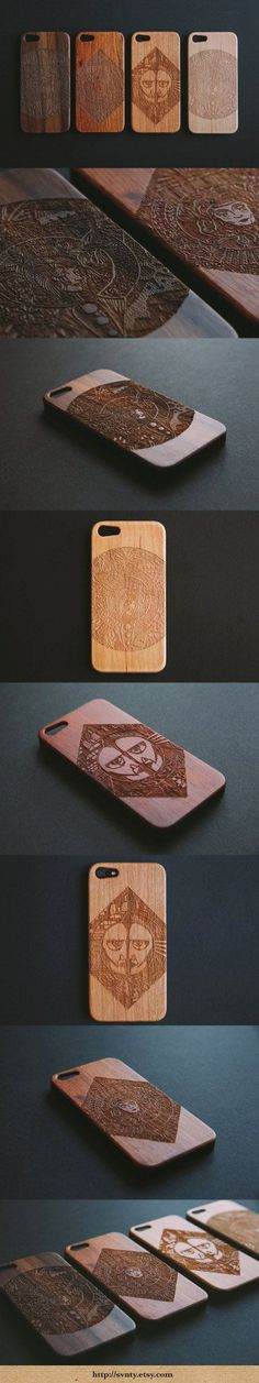 Perfect Christmas Gifts this holiday season Engraved natural wood, wooden Iphone 5/5s cases by SVNTY on Etsy | Trend Pages | Christmas Gift Ideas | Unique Christmas Gifts