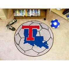 Louisiana Tech Bulldogs NCAA Soccer Ball Round Floor Mat (29)