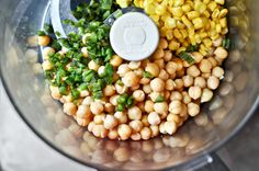Sweet Corn & Roasted Jalapeno Hummus by @How Sweet Eats