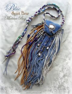 BLUE SPIRIT BEAR Totem Medicine & Blessing Bag. $125.00, via Etsy.