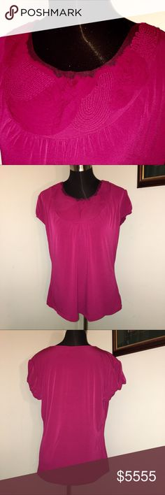 🌺 COMING SOON 🌺 PLEASE SHARE Silky stretch Worthington top with embellished neckline. Details to come. Like this listing to receive notification when this item is available. Thanks for checking out my closet. Happy Poshing! 💝 Worthington Tops