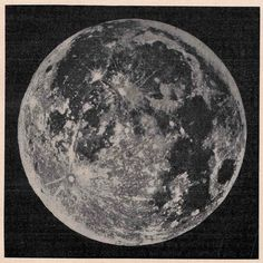 1900 moon original antique celestial astronomy print.
