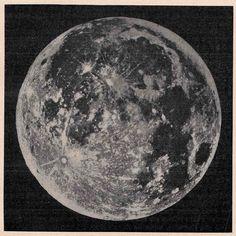 1900 moon original antique celestial astronomy print. $45.50, via Etsy.