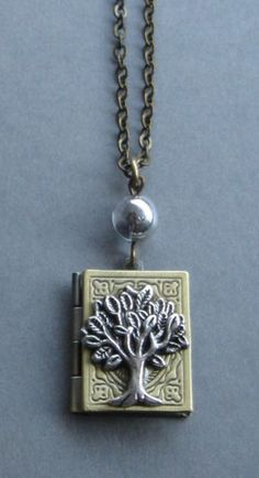 Tree of life locket necklace