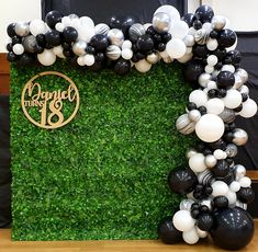 Birthday Event Ideas, 18 Birthday Party Decorations, Birthday Party For Teens, 18th Birthday Party, Balloon Decorations, Baloon Backdrop, Baloon Garland, Balloon Arch, Birthday Wall