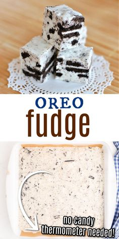 Delicious Cookies and Cream Fudge recipe for any time of year! Sweet, decadent Oreo Fudge recipe and no candy thermometer needed! Cookies And Cream Fudge, Cookie Dough Fudge, Cream And Fudge, Jam Cookies, Chocolate Chip Cookie Dough, Yummy Cookies, Fudge Recipes, Sweets Recipes, Candy Recipes