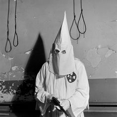 When I was in middle school and first learning about the KKK, I remember being terrified by the images. The white robes and pointed hoods were horrifying to me, as I associated them with extreme violence. It is interesting that the speaker thinks about them so fondly.