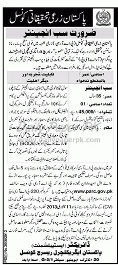 Jobs In Pakistan Agriculture Research Council Islamabad  http://www.dailypaperpk.com/jobs/178541/jobs-pakistan-agriculture-research-council-islamabad