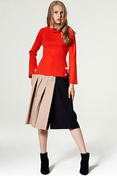 Mosen Pleated Culottes Discover the latest fashion trends online at storets.com