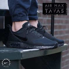 #airmaxtavas #nike #nikair  Nike Air Max Tavas - The Nike Air Max Tavas is a streamlined anwser on the rough and tough sneakers out there! It started with the Air Max Thea and because of the popularity of this design, Nike decided to release the male version. The 'Triple Black' colorway makes it way on this edition.  Now available | Priced at 124.99 | Men size 39 - 47.5
