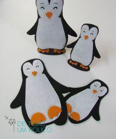 Não existe Pinguim em feltro mais fofo que esse <3 Recorte a laser em feltro.
